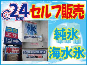 24時間セルフ氷販売海水氷・純氷共に300円!!