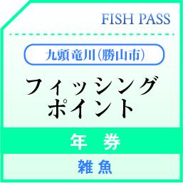 勝山市漁業協同組合 年券 九頭竜川(勝山市) 4000円